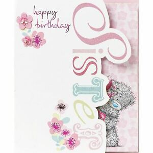 Me to you happy birthday sister greetings card tatty teddy ebay image is loading me to you happy birthday sister greetings card m4hsunfo