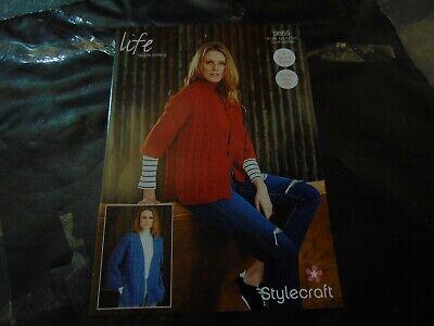 Stylecraft Knitting Pattern #9054 Double Knit Girls Cardigan #17600