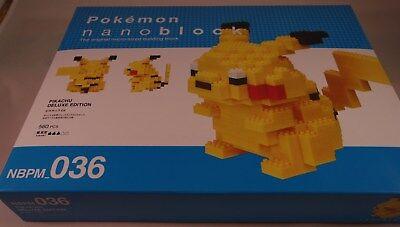 Nanoblock Pockemon Pikachu DX NBPM/_036 Doamond Mini Blocks Building Toys Japan