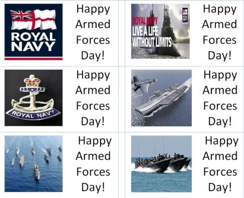 40 x  Royal Navy//Armed Forces Day labels//stickers cakes// gift bags//sweets