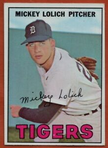1967-Topps-88-Mickey-Lolich-EX-EXMINT-Detroit-Tigers-Free-Shipping