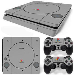 Ps4 slim console and dualshock 4 controller skin set retro ps1 649070886581 ebay - Playstation one console for sale ...