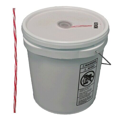 Rope Products 027443 red//white 2200 foot 500lbs pull twine in bucket