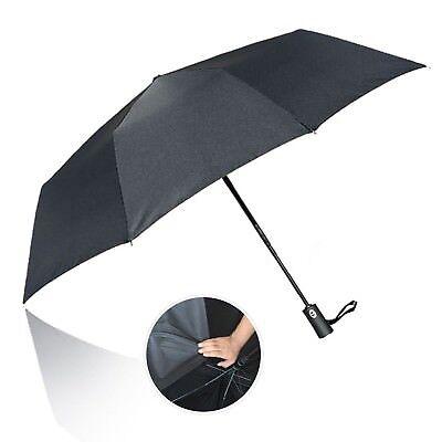 Men/'s Versace Compact Umbrella Windproof Fibreglass Reinforced Automatic Black