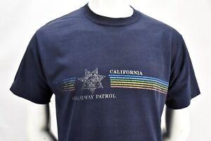 Vintage 1980s CHP California Highway Patrol Ringer Tee Mens Size XS Police