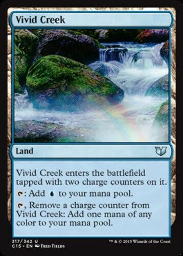 4x Vivid Creek NM-Mint, English Commander 2015 MTG Magic