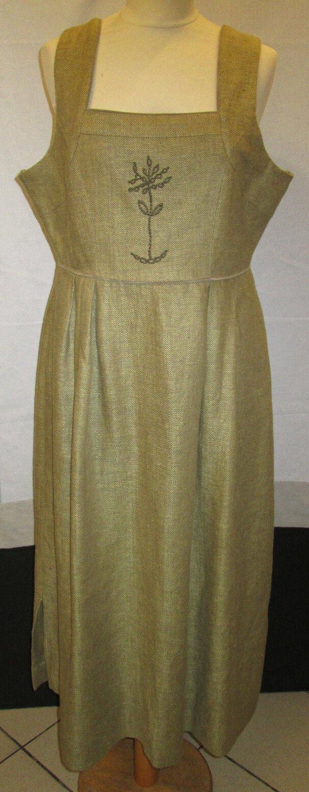 Damen Trachten Kleid gelb braun gemustert mit Motiv Gr. 22 von Distler