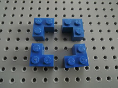 Lego 4 x piedra esquina eckstein ángulo 2357 azul 2x2