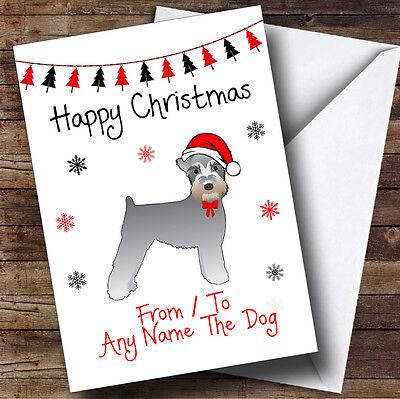 Schnauzer Da O Verso Il Cane Pet Personalizzata Cartolina Di Natale- Con Le Attrezzature E Le Tecniche Più Aggiornate