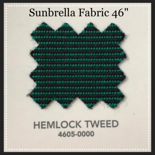 "Sunbrella Fabric 46/"" Wide Hemlock Tweed #4605 2 Yards"