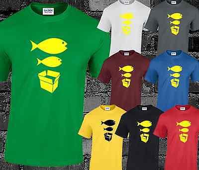 Big Fish Little Fish T Shirt Cardboard Box Dance DJ Acid House Rave Hacienda Music Tees