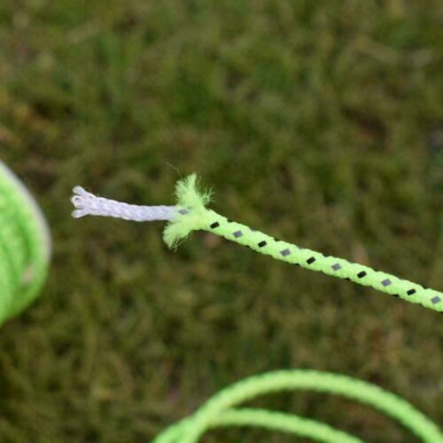 10M Green Reflective Canopy Tent Rope Guy Line Camp Line 2.5mm Cord Fluores T5S7
