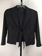 BCBG Max Azria L Black Tie Belt Short Jacket Blazer