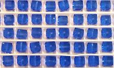 12 Swarovski Crystal 5601 Cubes  6mm - SAPPHIRE - Loose BEADS , Bridal/Wedding