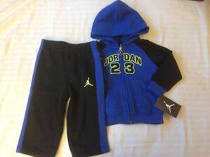 960d7fd170bb NWT Nike Air Jordan Toddler   Kid Hooded Fleece Tracksuit 2 Pieces ...
