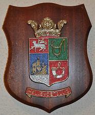 Hellevoetsluis wall plaque shield crest coat of arms gedenkplaat