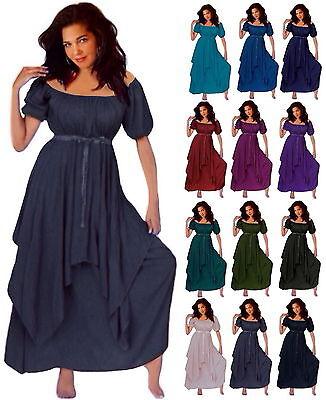 BOHO FASHION LOTUSTRADERS S M L XL 1X 2X 3X 4X 5X 6X PEASANT DRESS @C373 WOMEN