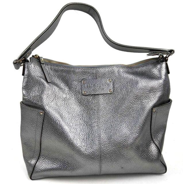 2d25a8fa0913 Kate Spade Yardley Serena Large Purse Hobo Tote Shoulder Bag Silver Metallic
