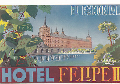 Vintage El Palace De Madrid Palace Hotel Spain Luggage Sticker Label