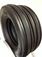 Two 600-16 Tractor Tires F2 6.00-16 Tri Rib 6.00 16 3 Rib W/tubes 6 P.r.