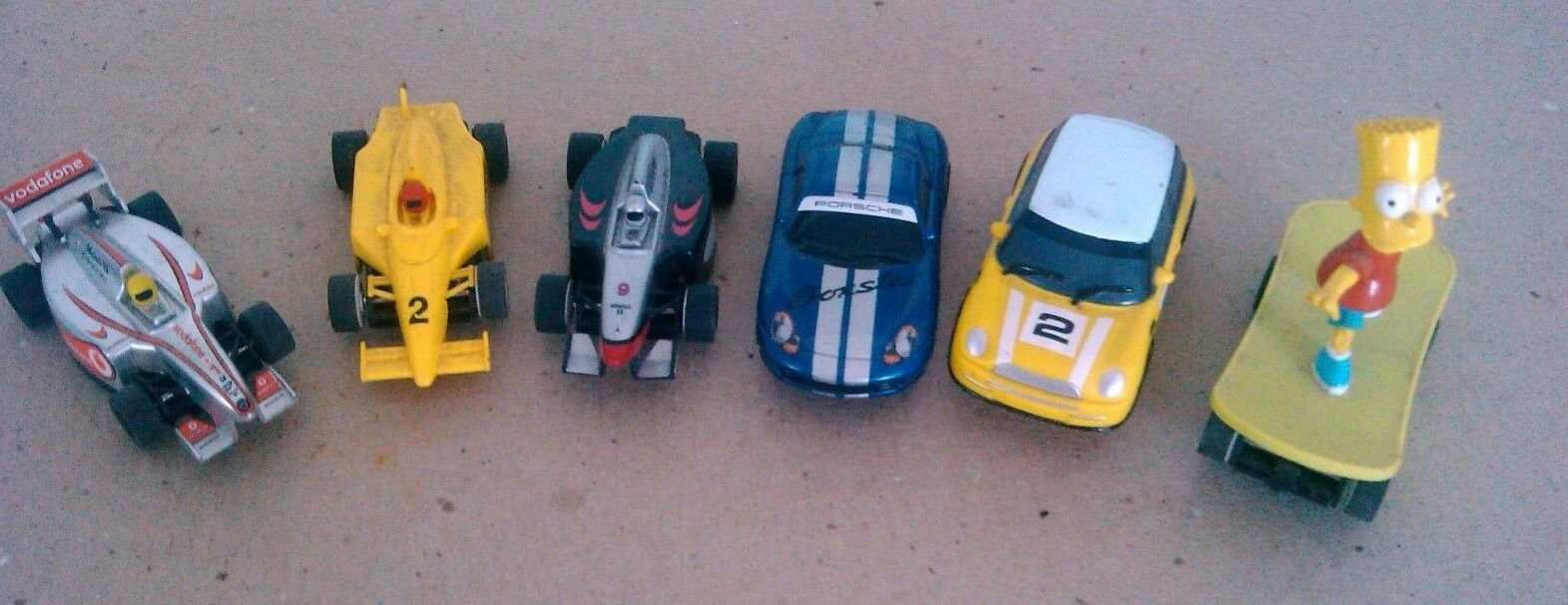 6 x micro scalextric cars