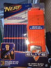 NERF Darts Elite Reload Refill 18 and dart clip N-=Strike Elite BLASTER NEW