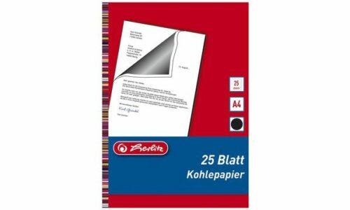 herlitz Durchschreibpapier DIN A4 Inhalt 25 Blatt SCHWARZ Kohlepapier Pauspapier
