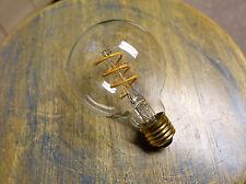 LOT: 4x LED Edison Bulb G25, Curved Vintage Style Spiral Filament, 4watt (40w)