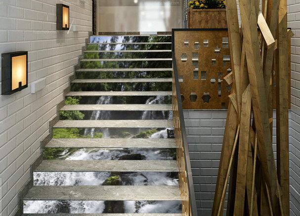3D Strom Wasser 567 Stair Risers Dekoration Fototapete Vinyl Aufkleber Tapete DE