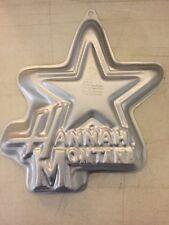 WILTON Hannah Montana Star Cake Pan #2105-4060 Disney TV Show Girls Party FUN