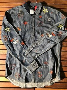 Dsquared2-Navy-Patches-Shirt-Size-XL-52-New