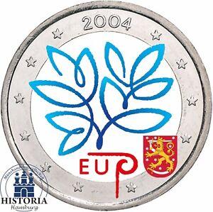 Finnland 2 Euro Münze Eu Erweiterung 2004 Stempelglanz Gedenkmünze