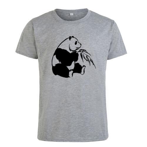 Funny Panda Men/'s Women/'s T-shirt Leisure Unisex Tops Summer Slim Tee