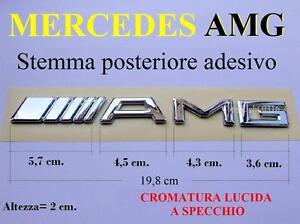 MERCEDES-AMG-A-C-E-S-SLK-SL-GT-S-Stemma-POSTERIORE-Badge-Fregio-Scritta-Emblema