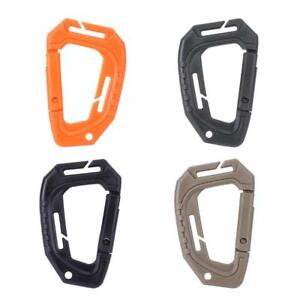 Plastic-Snap-Hook-Carabiner-D-Ring-Key-Chain-Clip-Keychain-Outdoor-Hiking-Camp