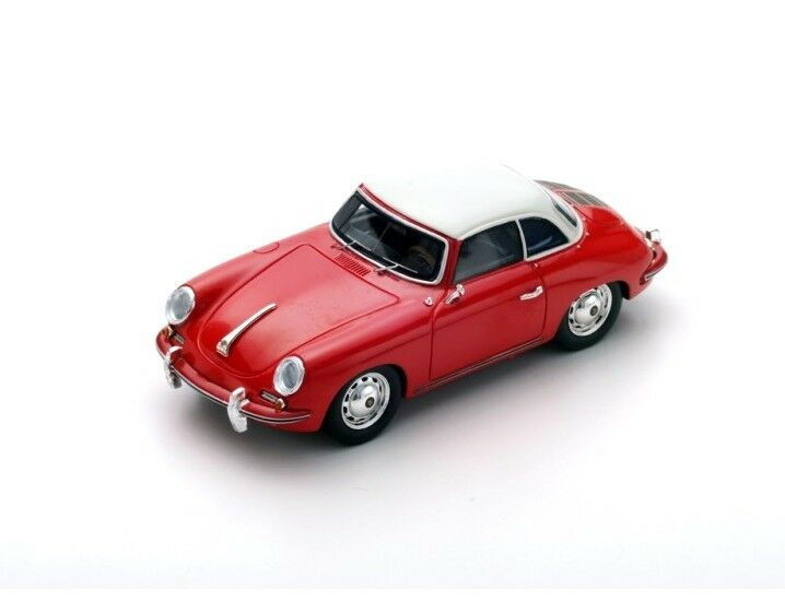 Porsche 356 C CABRIOLET HARD TOP 1963 rouge and blanc s4922 Spark 1 43 new in a Box