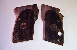 beretta tomcat 3032 factory checkered walnut grips 32 auto pistol