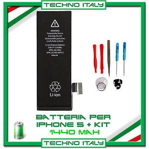BATTERIA-PER-APPLE-IPHONE-5-1440-mAh-RICAMBIO-ORIGINALE-CON-KIT-SMONTAGGIO