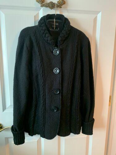Black 100% wool Willi Smith Medium Cardigan
