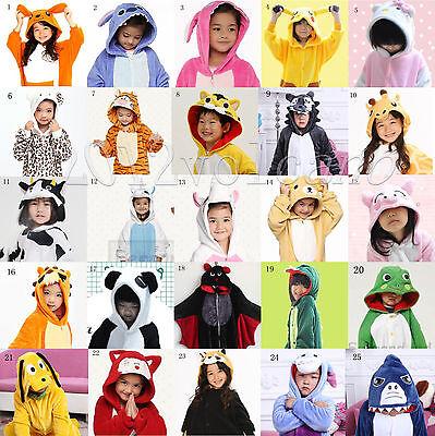 TOP Children Kids Pajamas Kigurumi Unisex Cosplay Animal Costumes  Nightwear