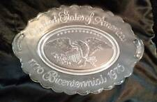 1776-1976 Bicentennial United States of America Eagle Oval Glass Plate