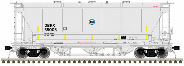 Atlas HO Trinity 3230 3-Bay Covered Hopper TXI GRBX 65000 #20005562