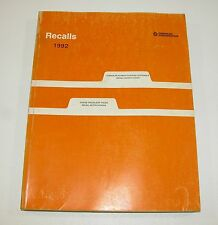 1992 Chrysler Dodge Recall Notifications Manual GOOD USED CONDITION