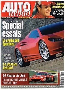 A25- Auto Hebdo N°1455 Special Essais Crème Des Sportives,rubens Barrichello