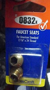 "Faucets Seats for American Standard Faucets 7/16"" x 24 Thread BrassCraft SC0832x"