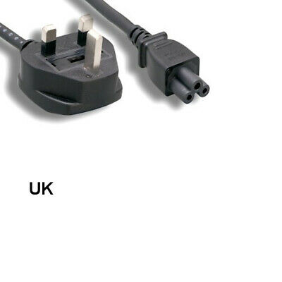 Kentek 6Ft AC Power Cord IEC320 C13 To UK England BS1363 3 prongs w// Fuse 18 AWG