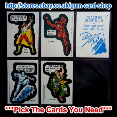*PICK THE CARDS YOU NEED* TOPPS MARVEL SUPER HEROES 1976 VG **© VERSION