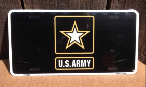 US Army Gold Star Black Wholesale Metal Novelty Wall Decor License Plate