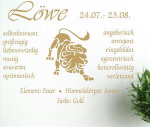 Sternzeichen Löwe details zu wall-refine ws-00771 sternzeichen lÖwe * wandtattoo sticker  wandaufkleber astro