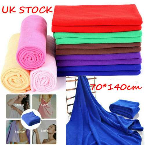 4pcs Large Microfibre Cotton Beach Bath Hand Towel Sports Travel Gym Lightweig